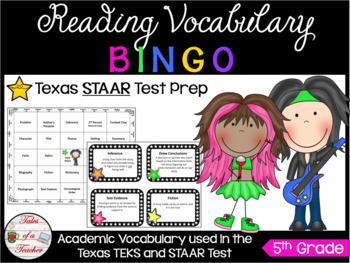 5th Grade Rock-STAAR BINGO Reading Vocabulary Review