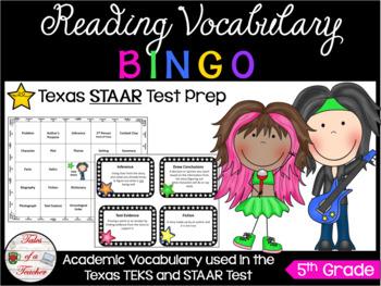 5th Grade Rock-STAAR BINGO Reading Vocabulary Review