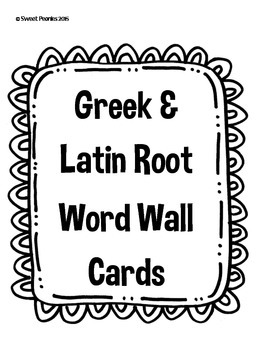 5th Grade Root Word Wall Cards