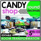5th Grade Rounding Decimals | Candy Shop Room Transformation