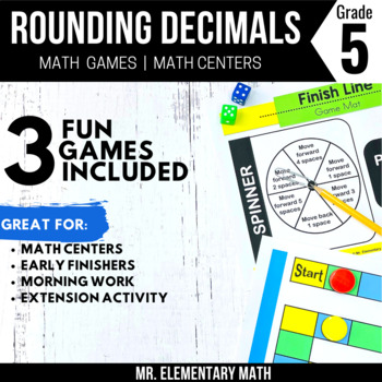 Rounding Decimals Games and Centers 5th Grade