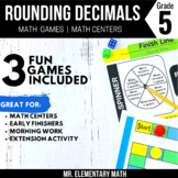 5th Grade Rounding Decimals Games and Centers