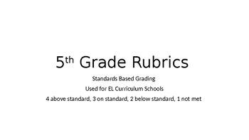 5th Grade Rubrics