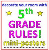 5th Grade Rules! Decoration (12 mini-Posters)