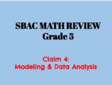 5th Grade SBAC Math Review Claim 4 Modeling & Data Analysis