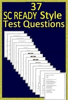 5th Grade SC READY Test Prep Practice Tests Bundle for English Language Arts