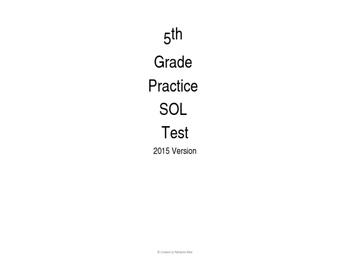 5th Grade SOL Answer sheet & Answer Key # 2