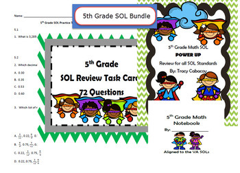 5th Grade SOL Review Bundle