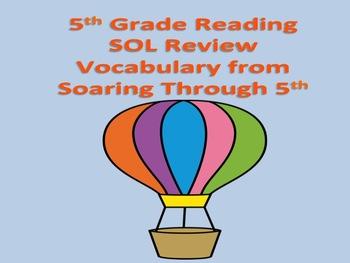 5th Grade SOL Review Vocabulary Terms