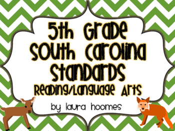 5th Grade SOUTH CAROLINA Camo Standards Reading