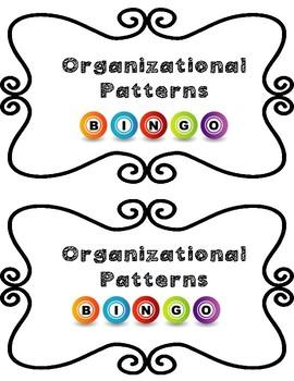 5th Grade STAAR Aligned Organizational Patterns BINGO