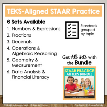 5th Grade Math STAAR ~Computations Tables Graphs~ 5.3A 5.3B 5.3C 5.4B 5.4C 5.4D