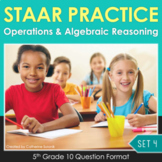 5th Grade Math STAAR Practice Set: 4 Computations Tables and Graphs