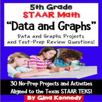 5th Grade STAAR Math Data,Table & Graphs,30 Enrichment Pro