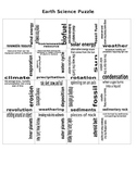 5th Grade STAAR Earth Science Review Puzzle