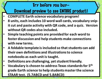 5th Grade Earth Science STAAR-Alternative Energy, Fossils, Climate, Rotation*PDF