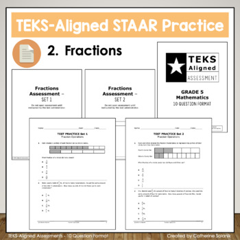 5th Grade Math STAAR Test Prep {Fractions & Operations} TEKS 5.3HIJL
