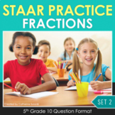 5th Grade Math STAAR Test Prep {Fractions} TEKS 5.3H 5.3I 5.3J 5.3L