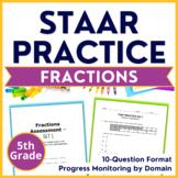 5th Grade Math STAAR Test Prep Fractions TEKS 5.3H 5.3I 5.3J 5.3L