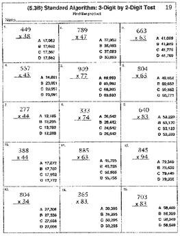 5th Grade STAAR Math: (5.3B) Multiply 3-Digit by 2-Digit (51 Worksheets)