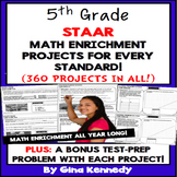 5th Grade STAAR Math Projects for all TEKS, Enrichment & Test-Prep All-Year!