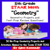 5th Grade STAAR Math Geometry, 30 Enrichment Projects and 30 Test-Prep Problems