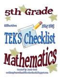 5th Grade STAAR Math TEKS Checklist (with new TEKS effective 2014-2015)