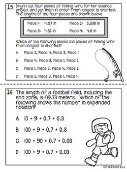 5th Grade STAAR Math Task Cards - Set 1