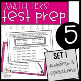 5th Grade Math TEKS Task Cards - Set 1