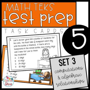 5th Grade STAAR Math Task Cards - Set 3