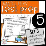 5th Grade Math TEKS Task Cards - Set 3