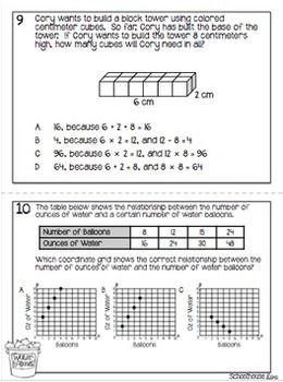 5th Grade STAAR Math Task Cards - Set 4