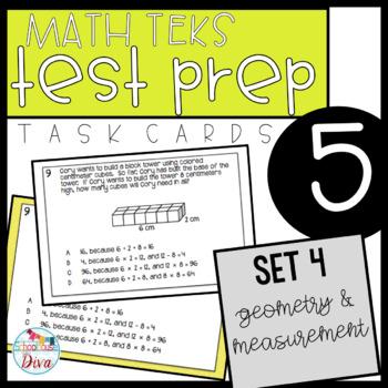 5th Grade STAAR Math Task Cards - Set 4