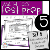 5th Grade Math TEKS Task Cards - Set 5