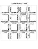 5th Grade STAAR Physical Science Review Puzzle