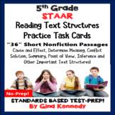 5th Grade STAAR Reading Skills Task Cards, 30 Short Passages in All!