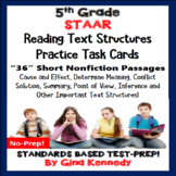 5th Grade STAAR Reading Skills Task Cards, 36 Nonfiction P