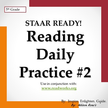 TEXAS 5th Grade Reading STAAR READY! Daily Practice #2 REVISED