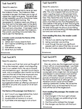 5th Grade STAAR Reading Inference Test-Prep Task Cards
