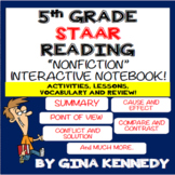 5th Grade STAAR Reading Interactive Notebook! Passages, Activities & More!