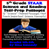 5th Grade STAAR Science & Reading Test Prep! 12 Science Passages!
