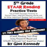 5th Grade STAAR Reading Tests, Great Practice!