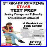 5th Grade STAAR Reading Test-Prep Passages, Critical Think