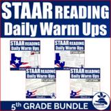 5th Grade STAAR Reading Warm Ups Bundle