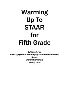 5th Grade STAAR Reading Warming Up to STAAR Reading