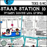 5th Grade STAAR STATION 10: Swimming in Data  TEKS 5.9C Math Center