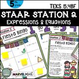 5th Grade STAAR STATION 2: FIESTA BINGO  TEKS 5.4B, 5.4F Math Center