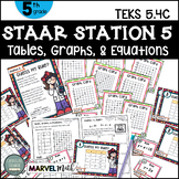 5th Grade STAAR STATION 6: Guess My Rule  TEKS 5.4C Math Center