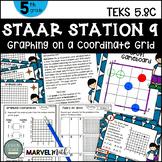 5th Grade STAAR STATION 9: That's My Spot  TEKS 5.8C Math Center