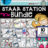 5th Grade STAAR STATIONS BUNDLE * 10 Fun & Engaging Math Centers * TEKS Aligned